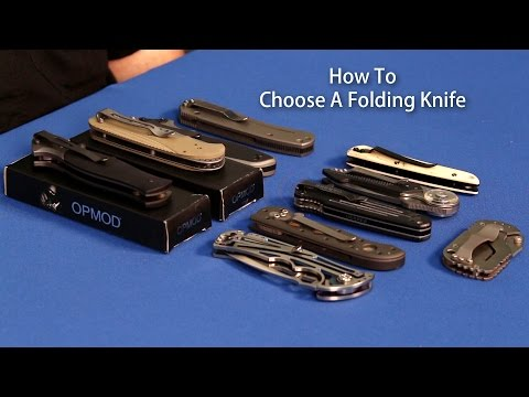 How To Choose a Folding Knife - OpticsPlanet.com