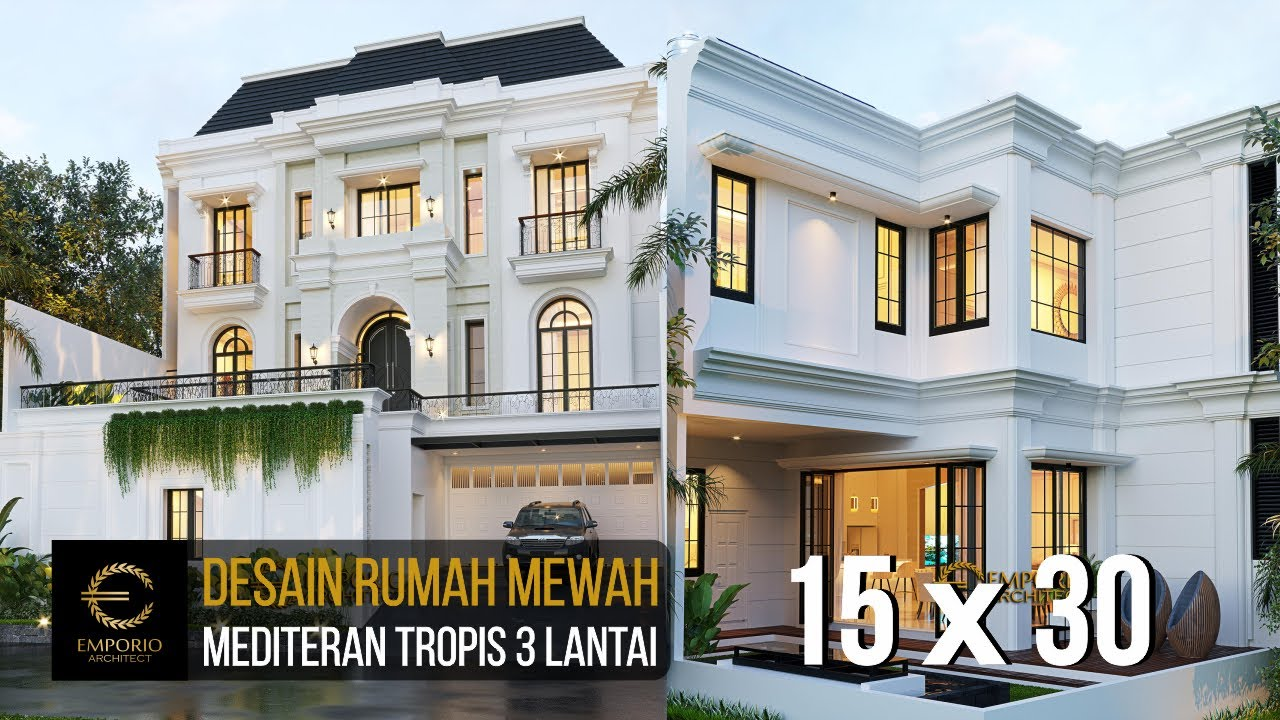 Video 3D Mr. Candra Mediterranean House 3 Floors Design - Jakarta