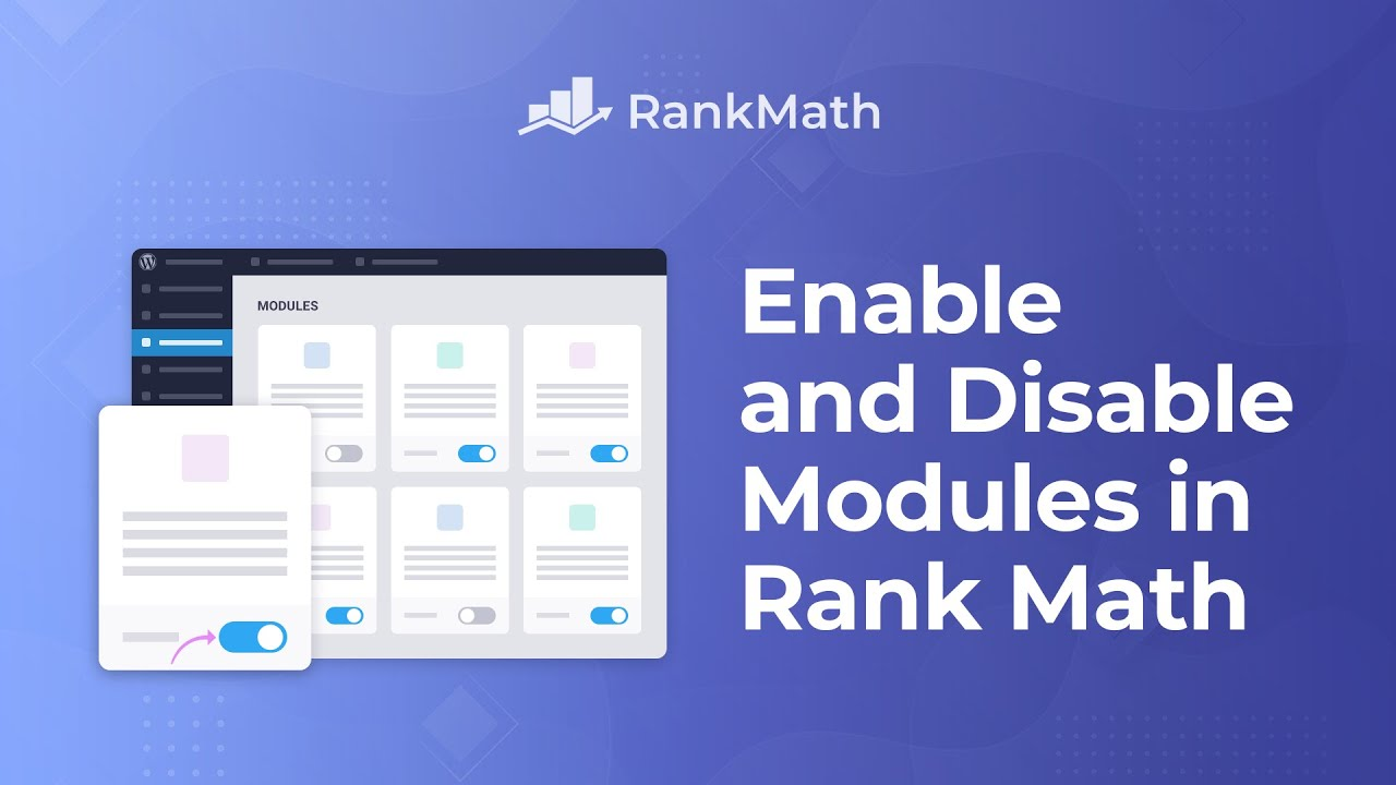 How To Enable & Disable Modules in Rank Math - Rank Math SEO