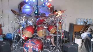 Drum Cover AC DC Thunderstruck Chris Slade Gong Bass Kick Drums Drummer Drumming Razors Edge