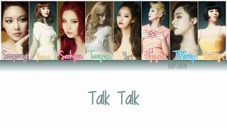 GIRLS' GENERATION (소녀시대) SNSD – TALK TALK Lyrics Color Coded [Eng/Han/Rom]