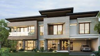 Video Desain Rumah Modern 2 Lantai Bapak Charly di  Kupang