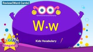 Kids từ vựng biên soạn - Words bắt đầu với W, w 2