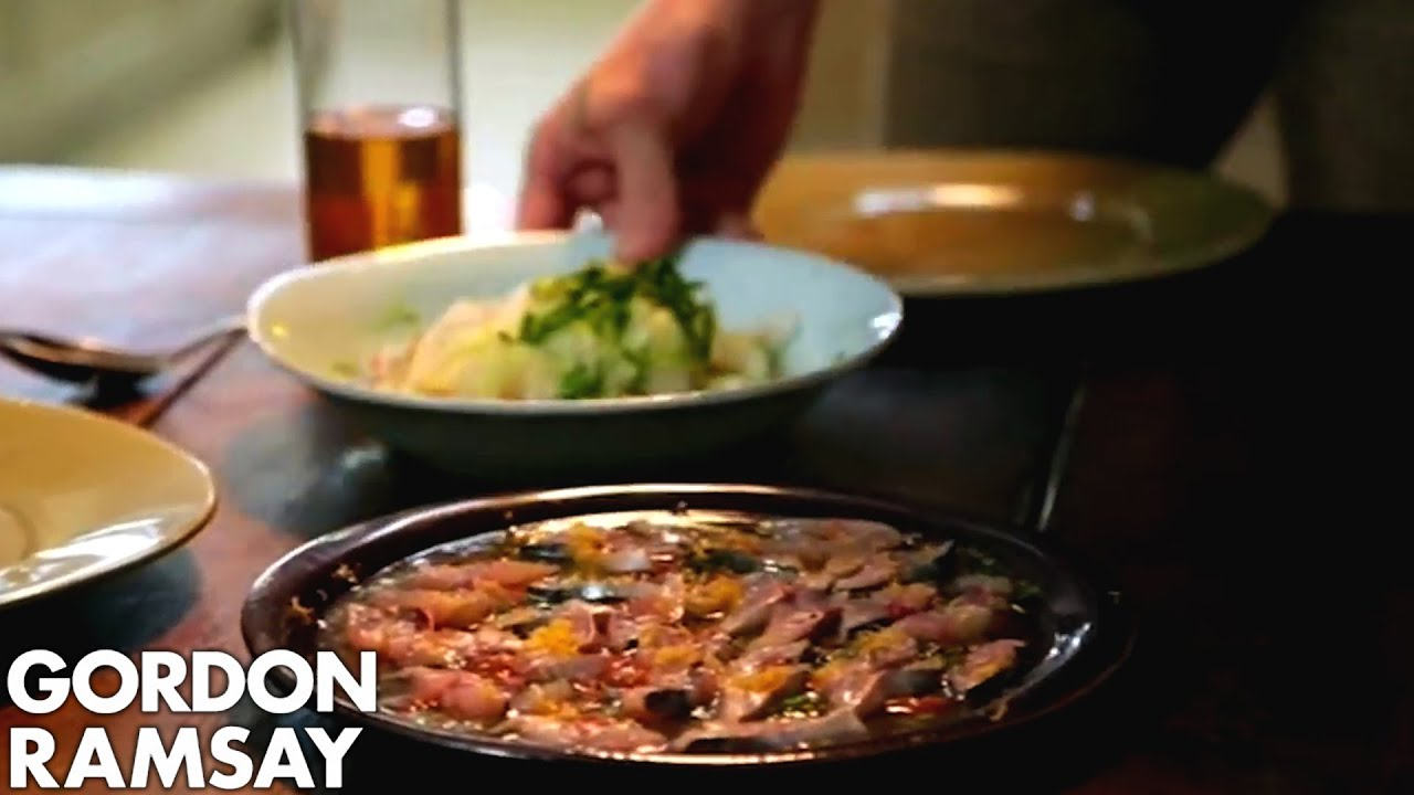 Gordon Ramsay's Mackerel Ceviche with Fennel Salad & Quinoa