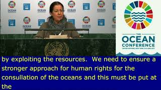 "Vivienne Solis\'s Intervention at the The Ocean Conference, ""Save Our Ocean"" :http://webtv.un.org"