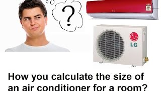 How To Select Room Air Conditioner Size