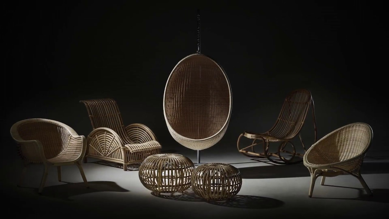 Sika Rattan Renoir Hanging Chair in Antique