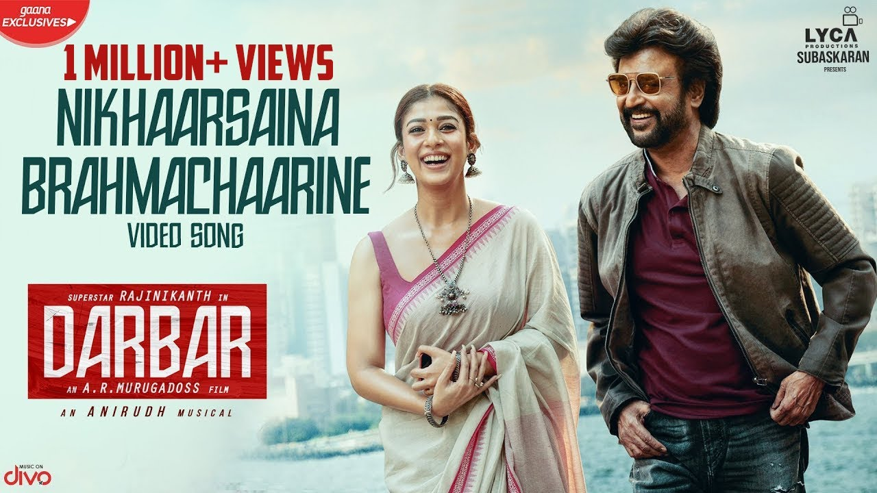 Nikhaarsaina Brahmachaarine Video Song From Darbar