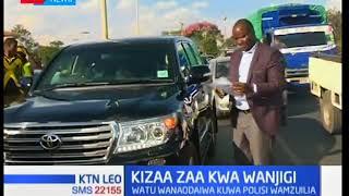 Kizaza chazuka baada ya watu wanodaiwa kuwa mapolisi kuzuia mwanabiasha Jimmy Wanjigi