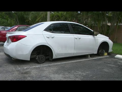 Woman wakes up to find wheels, tires missing from Toyota Corolla