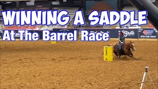 Winning A Saddle At The Barrel Race