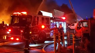 SAN FRANCISCO WATER FRONT BLAZE: Raw video of the massive 4-alarm fire at Pier 45