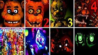 50+ JUMPSCARES Five Nights at Freddy's 6 FNAF 1 2 3 4 SL World Simulator