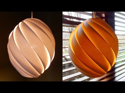 Swirl Pendant Lamp How To Make A Spiral Paper Lampshade Lantern