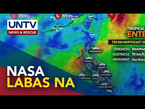 [UNTV]  Bagyong Enteng nasa labas na ng Philippine Area of Responsibility