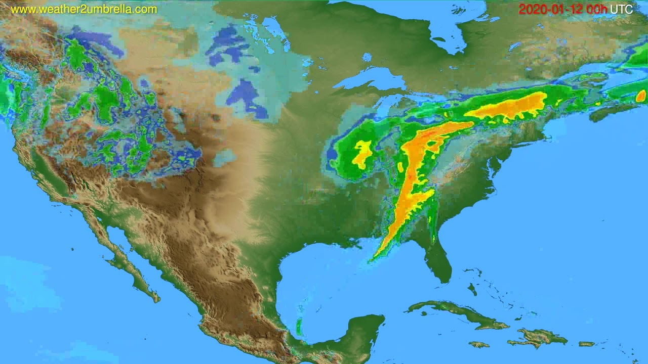 Radar forecast USA & Canada // modelrun: 12h UTC 2020-01-11