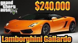 GTA 5 Online - (Grand Theft Auto V ) Gameplay Bought Lamborghini Gallardo Tune Up & Test Drive