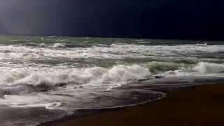 hatay samandağ müthiş deniz fırtınalı yağmurlu
