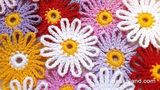 DIY Tutorial EASY Crochet Flower  How To Crochet Flower