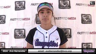 2024 Ava Hernandez 4.07 GPA - SS, Pitcher and Outfielder Softball Skills Video - CA Grapettes McNair