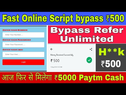 Online Script Bypass Unlimited Paytm Cash Loot | ₹800 Daily