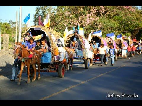 Carretas peregrinas llegan al Santuario de Popoyuapa en Rivas