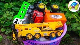 Find Crane truck, dump truck, plane, superheroes - Learn to play, learn to learn - Kid Studio