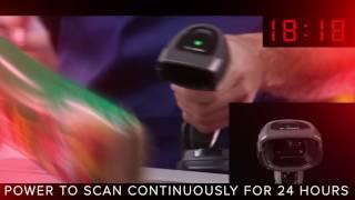 Сканер штрихкодов (2D) Zebra (Motorola) DS8100 с подставкой от компании Zebra Technologies - видео