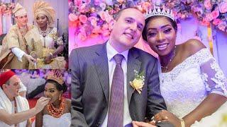 NIGERIAN INTERRACIAL WEDDING | NIGERIAN TRADITIONAL MARRIAGE | FAIRYTALE WHITE WEDDING #marriage