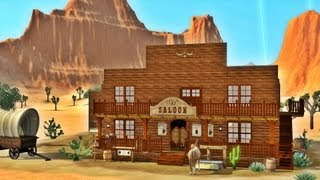 Sims 3 - Saloon in the Wild West featuring Julia Engel + DOWNLOAD