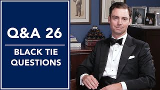 Black Tie 🤵, Tuxedo Shirts, Do's and Don'ts, And More - Q&A 26   Kirby Allison