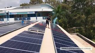 Commercial solar panel cleaning Brisbane