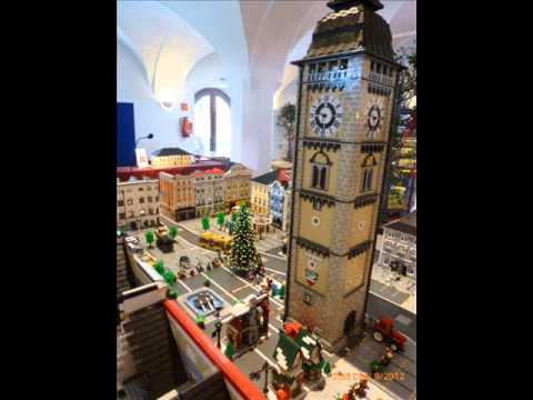 Ausstellung Mondsee Österreich - LEGO Modell Stadtplatz Enns