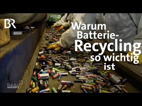 Warum in der EU Batterien nicht recycelt werden   Gut zu wissen   BR