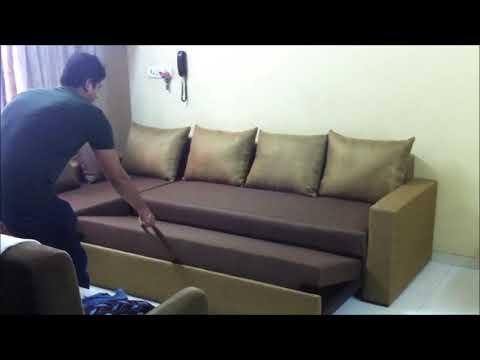 Sofa Cum Bed Fitting Drawer Type