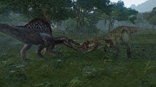 Spinosaurus VS Giganotosaurus Update 1.4 - Jurassic World Evolution