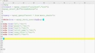 MySQL Tutorials - MySQL Fetch Assoc Extracting data from a database with PHP