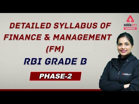 RBI Grade B Finance And Management (FM) Detailed Syllabus | RBI ...