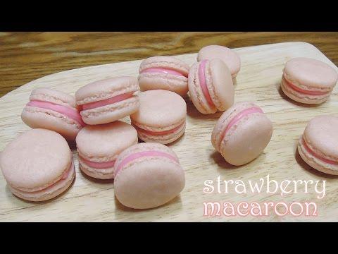 [몽브셰] 딸기 마카롱 만들기 (strawberry macaron)