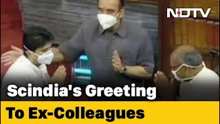 When Jyotiraditya Scindia Came Face-To-Face With Ex-Congress Colleagues - Download this Video in MP3, M4A, WEBM, MP4, 3GP