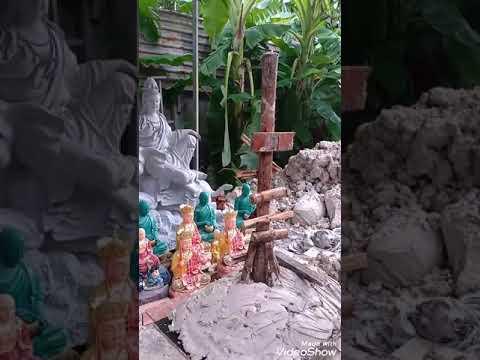 Tôn tạo tượng Phật thích ca.