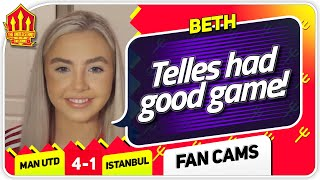 BETH! BRUNO IS JUST AMAZING! Manchester United 4-1 Istanbul Basaksehir Fan Cam