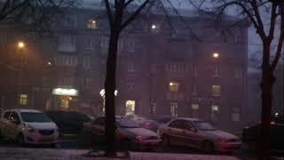 С первым снегом, Запорожье! 22 ноября 2017. Первый снег. Украина, Запорожье, пр. Соборный.