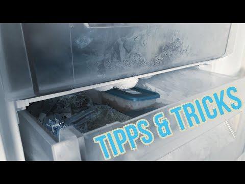 Gefrierschrank abtauen und reinigen I Gefrierfach enteisen