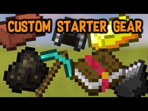 Custom Starter Gear Mod: Minecraft Mod Showcase