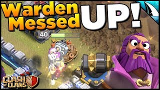 Craziest Warden AI EVER! Has your Warden ever done this? | Clash of Clans