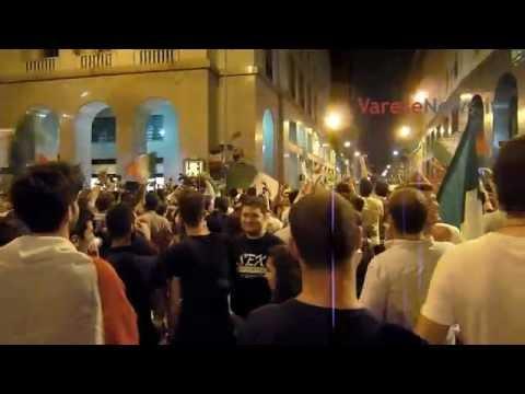 Varese festeggia la vittoria dell'Italia