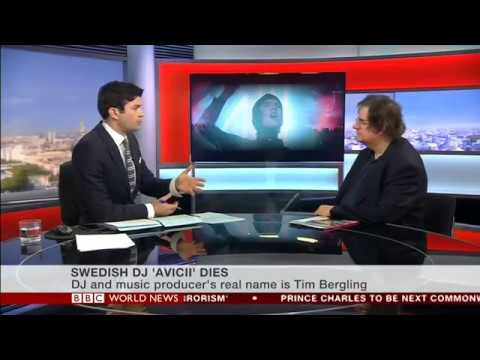 Farewell to Avicii - BBC World News April 21 2018 - Mark Beech interview with Lewis Vaughan Jones