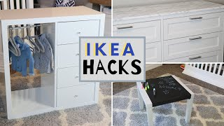 DIY IKEA FURNITURE HACKS | Nursery Edition Phase 2