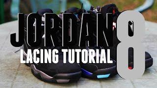 How To Lace Jordan 8 VIII (BEST WAY) | Kholo.pk